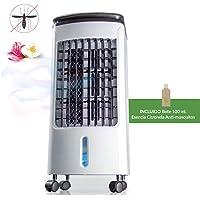 Newteck - Climatizador Portátil Frío Fresh Essence, Ventilador de Torre con Aromatización del Aire, 3 Velocidades, Función Frío, Oscilación 120º, Bajo Consumo (80W). Climatizador Evaporativo sin Tubo
