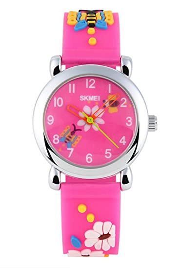 Relojes para niños 3D, bonitos dibujos animados, impermeables, de silicona, reloj de