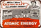 1947 Chemcraft Atomic Energy Toy Laboratory Vintage Look Reproduction Metal Tin Sign 7X10 Inches