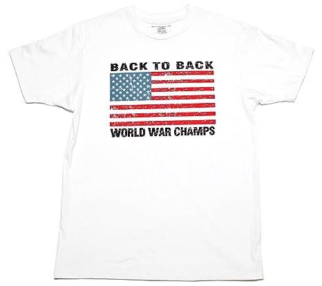Amazon usa back to back world war champs mens t shirt white amazon usa back to back world war champs mens t shirt white clothing sciox Image collections