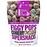 Made in Nature, Organic Figgy Pops, Supersnacks, Cranberry Pistachio, 4.2 oz, Pack of 6