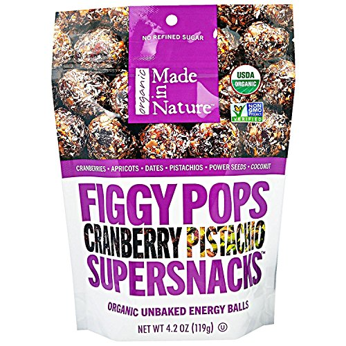 Cheap Made in Nature, Organic Figgy Pops, Supersnacks, Cranberry Pistachio, 4.2 oz, Pack of 6