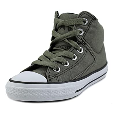 Converse Kids Chuck Taylor All Star High Street Hi Fashion Sneaker Shoe, Charcoal, ...