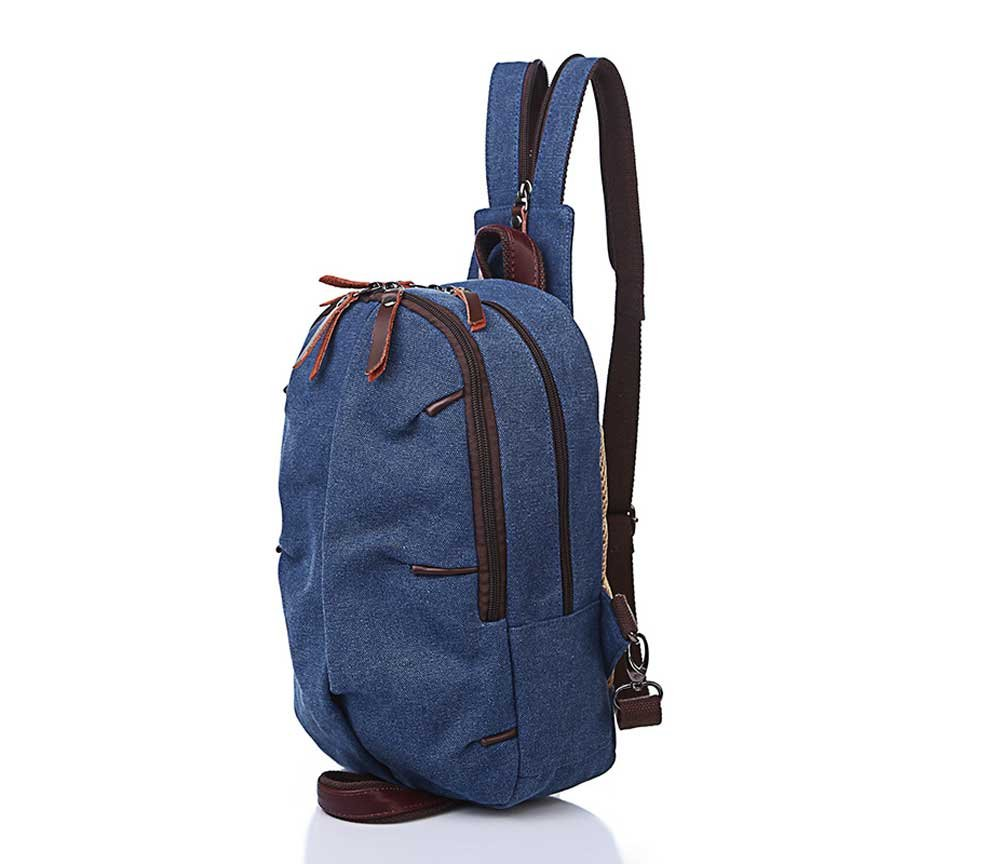 Amyannie Canvas Backpack Multi-Functional Shoulder Bags Arm Bag Sports Casual Bag