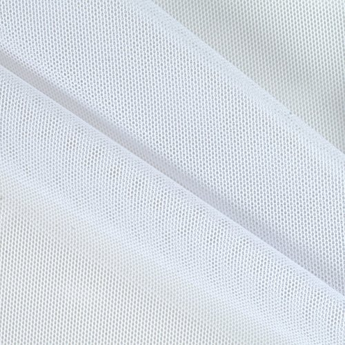 Power Mesh White Fabric By The Yard