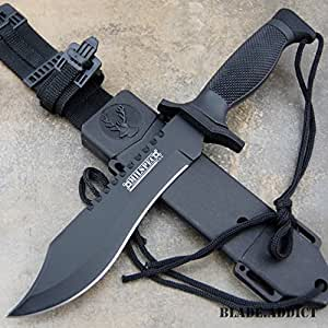 "NEWl!! 12"" TACTICAL BOWIE SURVIVAL HUNTING KNIFE w/ SHEATH MILITARY Combat Fixed Blade"