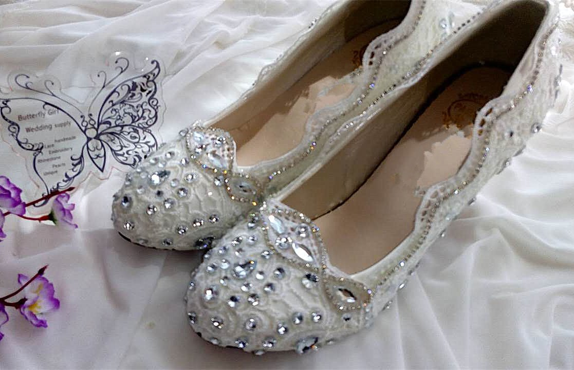 JINGXINSTORE Chaussures de mariage en cristal blanc dentelle bustier Bas Haut Pompe Talon HtP7jF