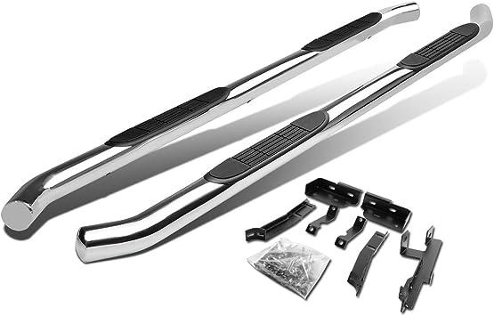 DNA Motoring STEPB-3-009-BK STEPB3009BK Stainless Steel 3 Side Step Nerf Bar Running Board