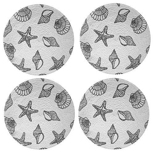 Lintex Grey Seashell Print 15