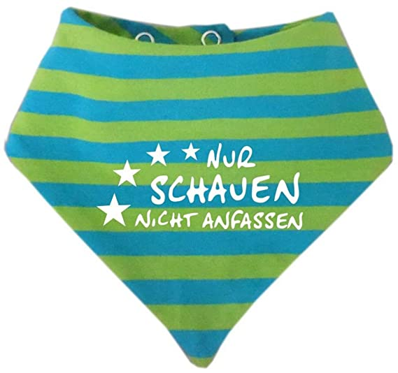 KLEINER FRATZ Baby Kinder Halstuch Sommer Stripes Oma war da//in 9 Designs//Gr/ö/ßen 0-36 Monate