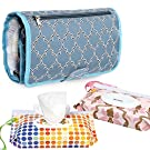 Ava & Kings Foldable Organizing Diaper Changing Mat w/ 2pk Baby Wipes Pouches