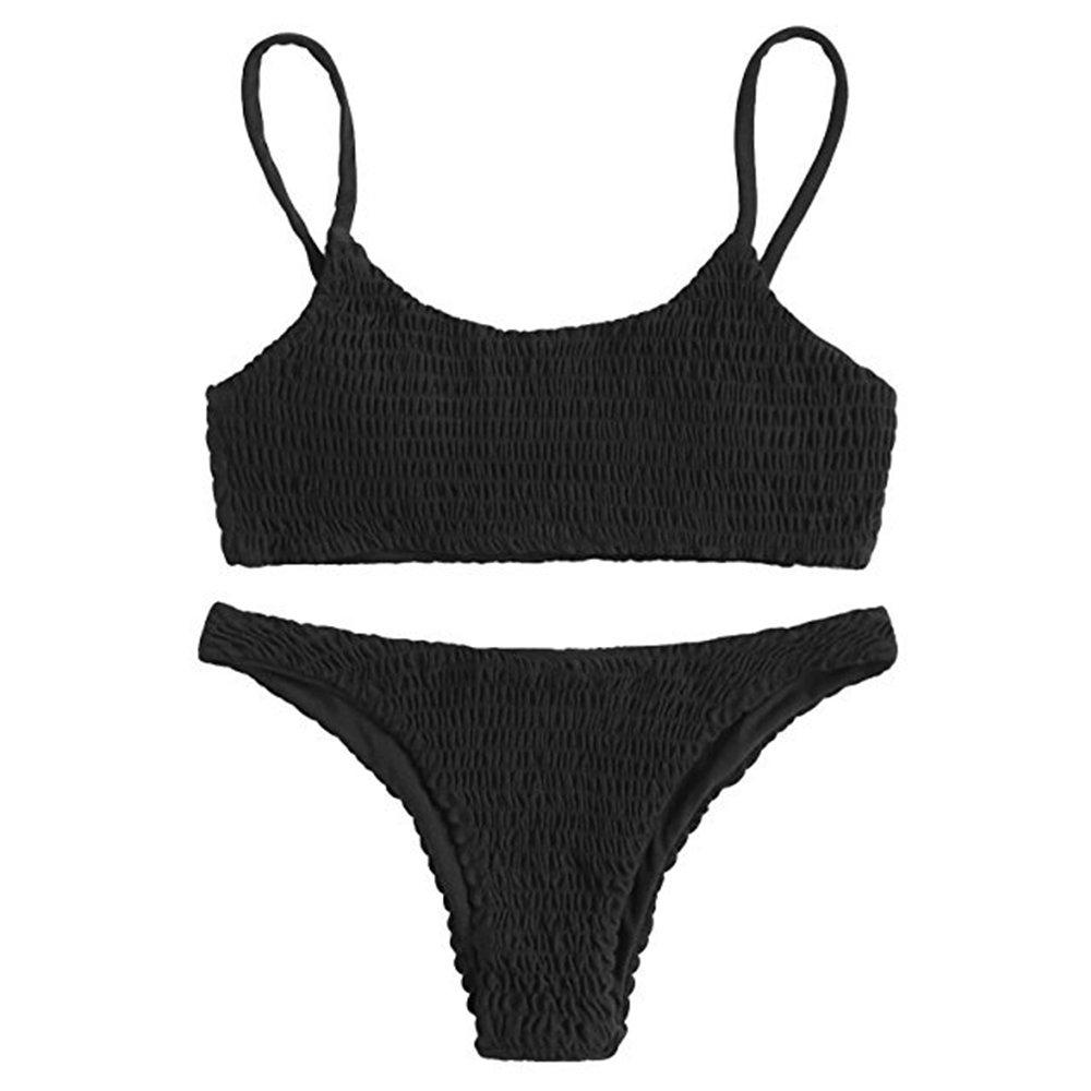 f4ef4b7866 Amazon.com: Duanmei Women's Push up Bra Bandage Shirred Padded Two Piece Low -Rise Bikini Set Swimsuit: Clothing