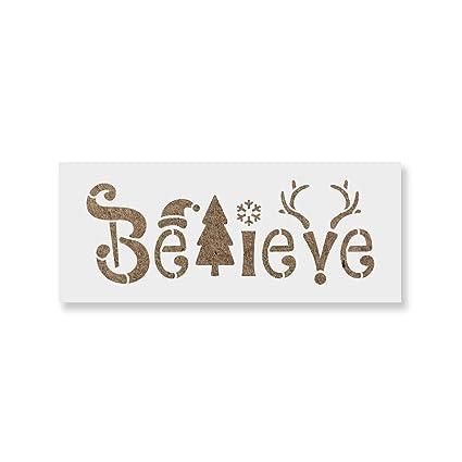 Amazon Com Believe Christmas Stencil Diy Stencils That Work Great