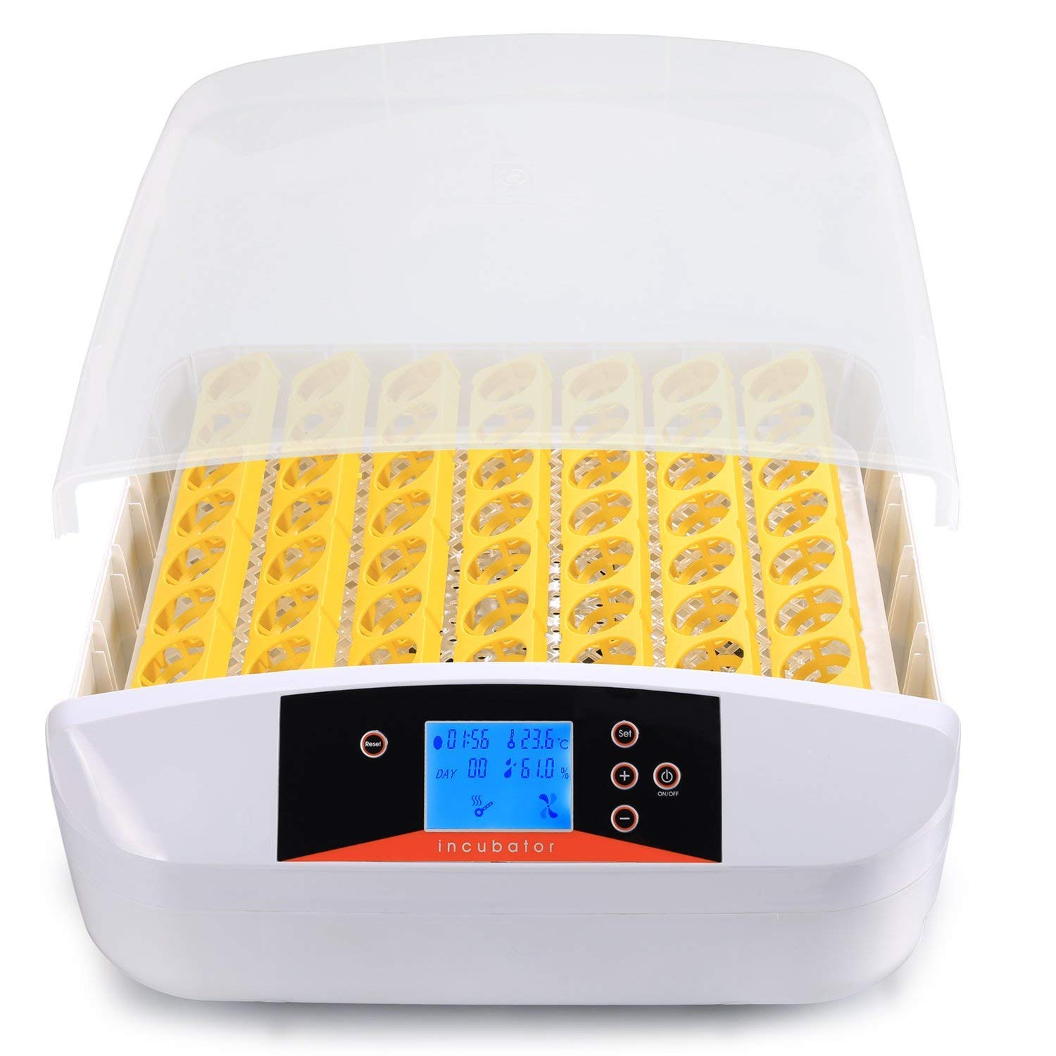 Homdox Automatic Digital Clear Egg Incubator Hatcher Egg Turning Temperature Control US Plug Yellow (7 Eggs Incubator) 3048866011