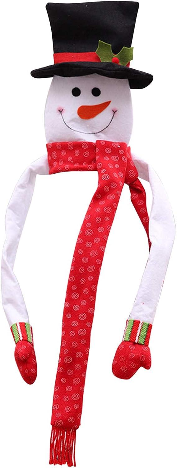 Bold Manner Bonhomme de Neige Textile Non-Tiss/é Cimier Pointe de Sapin D/écoration No/ël