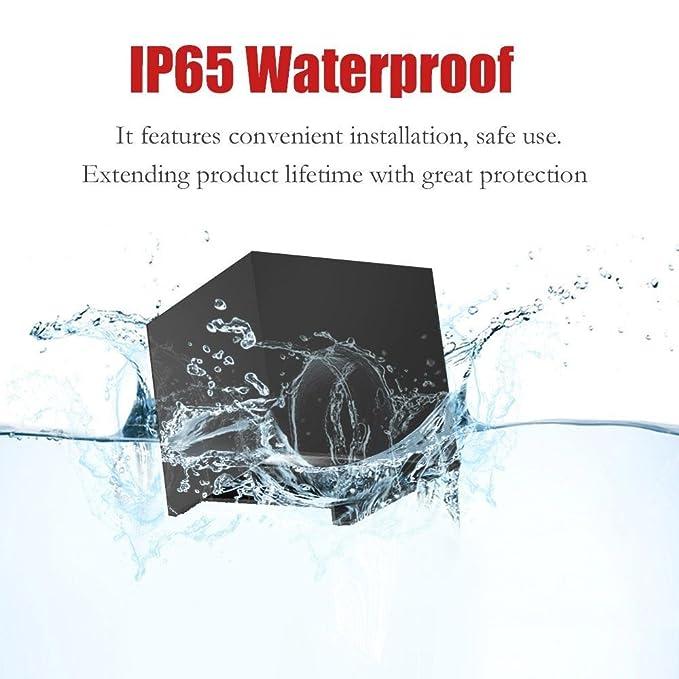 Splink 12W Lámpara de pared de LED con ángulo de visión Ajustable IP65 resistente al agua iluminación de la pared 3000K caliente apliques blanco LED al aire ...