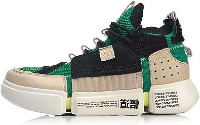 LI-NING FW AGWP027 AGWN041 - Zapatillas Deportivas para Hombre (Piel auténtica), Verde (Verde 2), 45 EU: Amazon.es: Zapatos y complementos