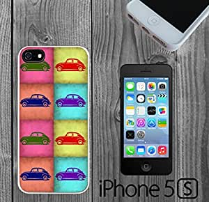 VW Beetle Pop Art Custom made Case/Cover/skin FOR iPhone 5/5s -White - Rubber Case ( Ship From CA)