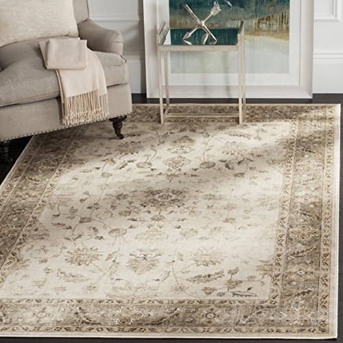 Safavieh Vintage Premium Collection VTG168-3410 Transitional Oriental Stone and Mouse Brown Distressed Silky Viscose Area Rug (6'7