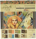 """Graphic 45 4501532 Vintage Hollywood 8x8 Pad 8""""X8"""" Paper Pad"""