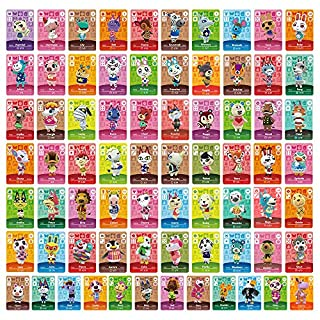 72pcs NFC Cards for ACNH Switch/Switch Lite/Wii U with Case