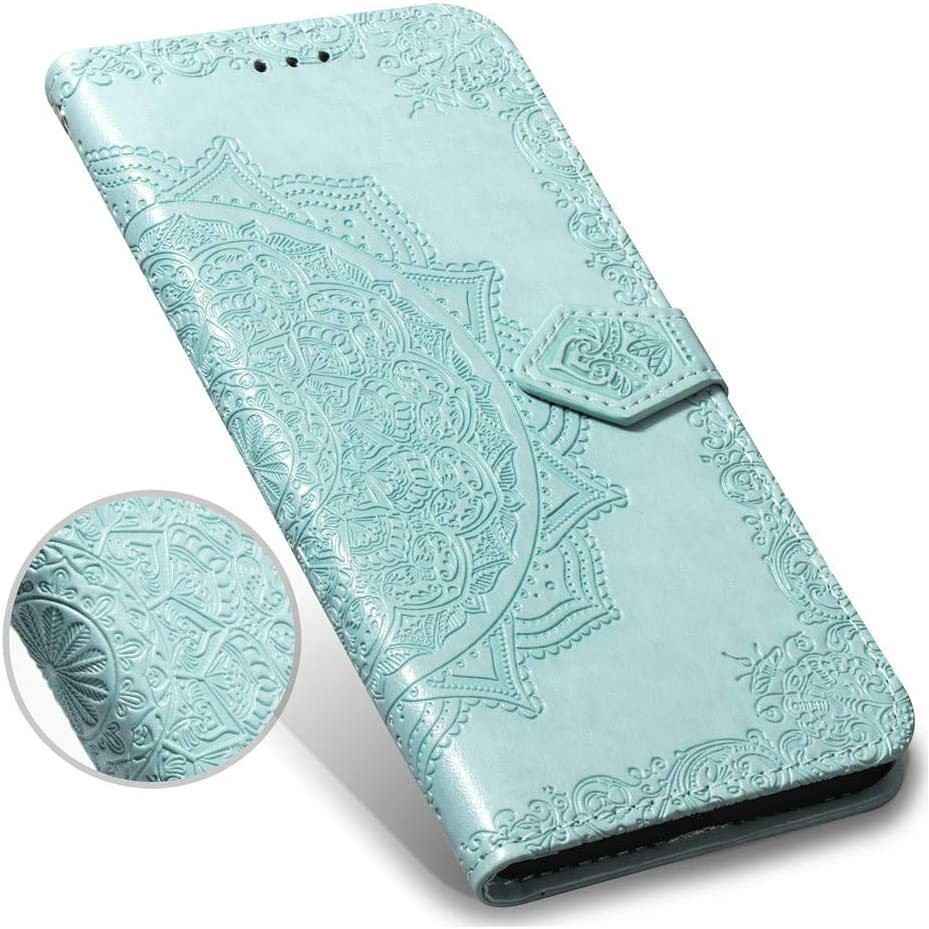 Rose Gold Flip PU Leather Wallet Phone Case Mandala Notebook TPU Shockproof Shell Slim Protective Cover for Sony Xperia L3 with Card Holder Magnetic Closure Huzhide Sony Xperia L3 Case