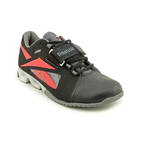 Reebok Mens Running Shoes Size 8 M J88180 Lifter Black Red Leather 309a599a8
