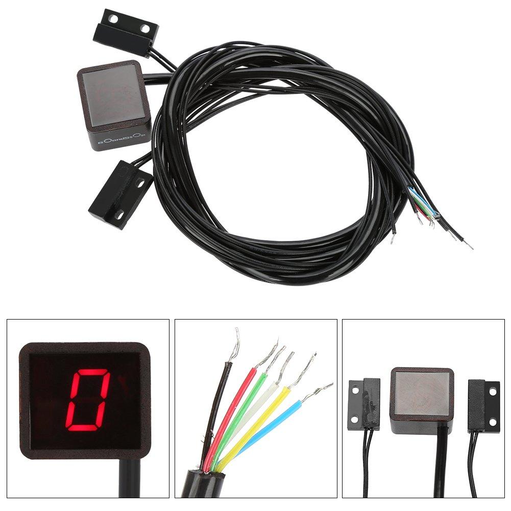 Yosoo (TM) - Indicador de marchas digital universal de cambio Sensor de palanca de luz de moto, color azul: Amazon.es: Coche y moto