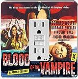 Rikki Knight 3703 GFI Single Vintage Movie Posters Art Blood of Vampire 3 Design Light Switch Plate
