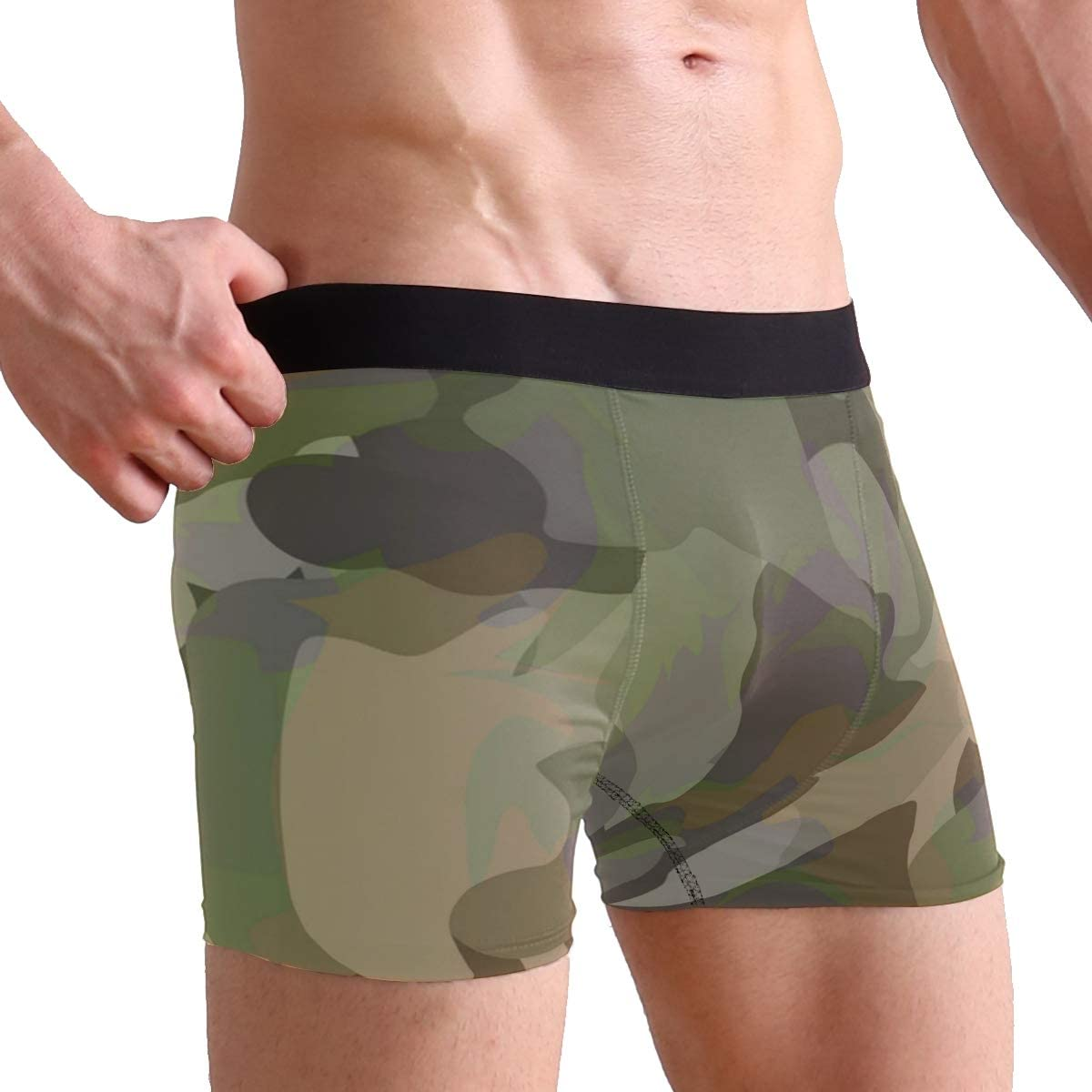 Toddy Astridd Army Ridge Reaper Camo Pattern Mens Sports Performance Shorts Underwear 2 Pack