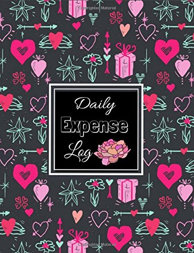 Daily Expenses Log: Expense Journal: Personal Expense Tracker : Pink Red Hearts In Black Loves Pattern  Design cover,Payment Record Tracker : Daily Expenses Tracker (Spending Log Books) (Volume 1). pdf epub