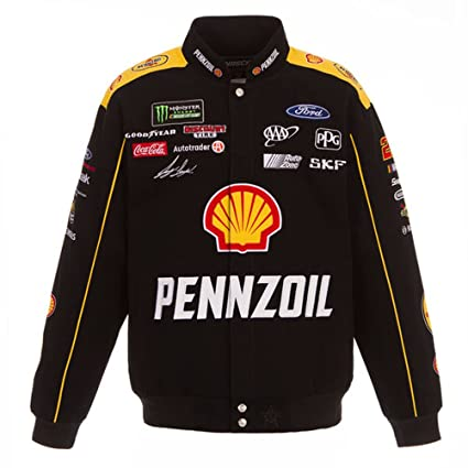Amazon Com 2018 Joey Logano Pennzoil Shell Mens Black Twill Nascar