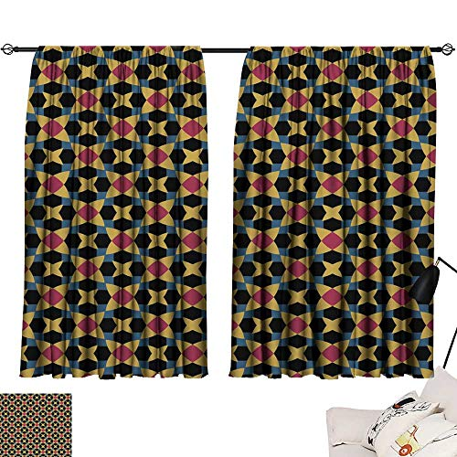 Adjustable Tie Up Shade Rod Pocket Curtain Repeatable Retro geometric pattern Fabric print Design for prints on fabrics textile cover paper interior patchwork2 63