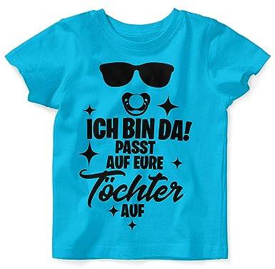 100 /% Baumwolle! 56-80 NEU Kurzarm Kinder T Shirt Kurzarm Body T-Shirt Gr