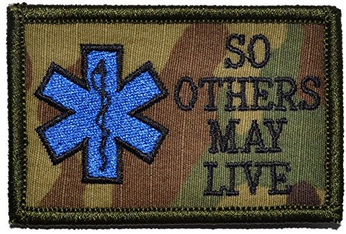 EMS So Others May Live - Star of Life 2x3 Morale Patch - Multiple Colors (Multicam)