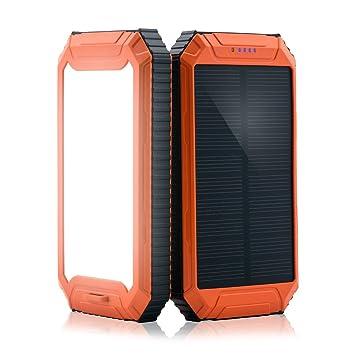 PowerGreen Cargador Solar Power Bank con Linterna 32LED 10000 mAh energía Solar Banco USB Dual batería Externa Unidades para 5 V Dispositivos móviles ...
