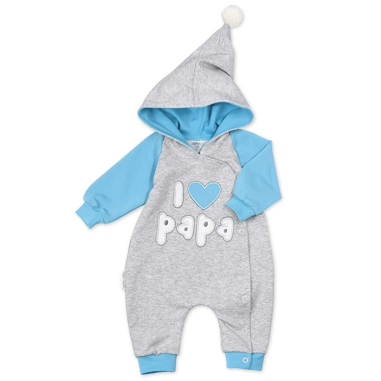 Baby Sweets Overall Jungen grau blau 60 Babystrampler mit Kapuze f/ür Neugeborene /& Kleinkinder Motiv: I Love Papa Gr/ö/ße: 3 Monate