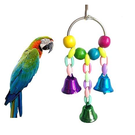 Dylandy Jaula de juguete para pájaros, juguete colorido con ...