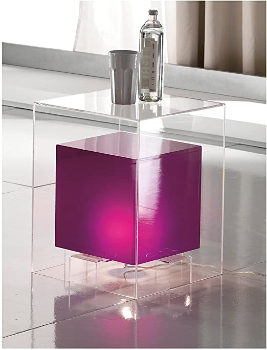 Mesa Luminoso Space Purple L. 40 cm Exterior de metacrilato ...