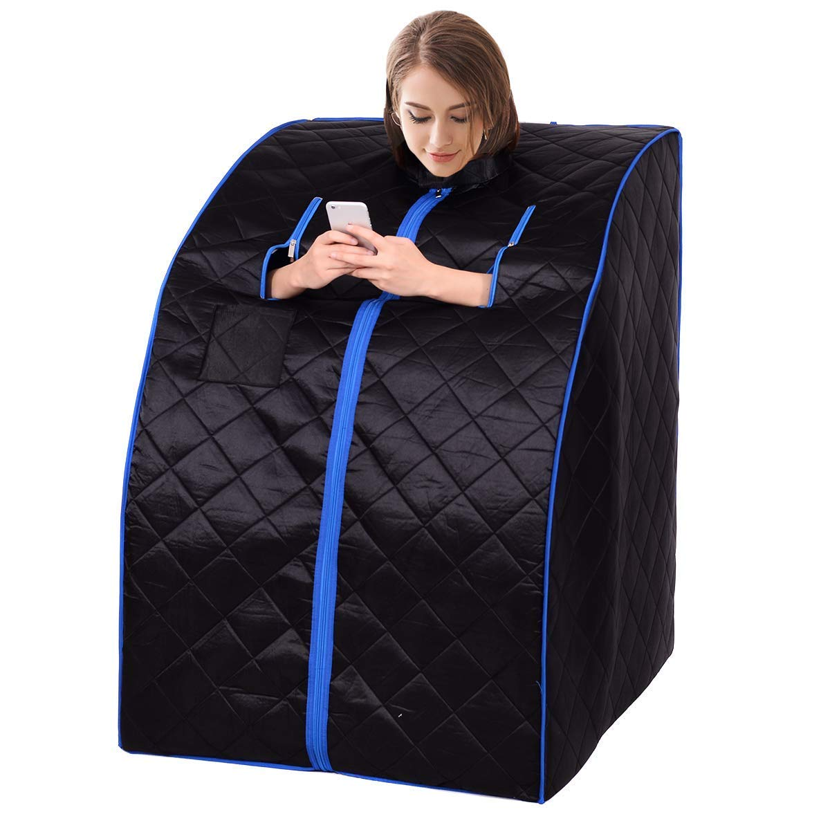 For Sauna Portable Far Infrared Spa Sauna Weight Loss Negative Ion Detox Therapy Personal Fir Infrared Sauna Room Folding Chair Beautiful And Charming Sauna Rooms