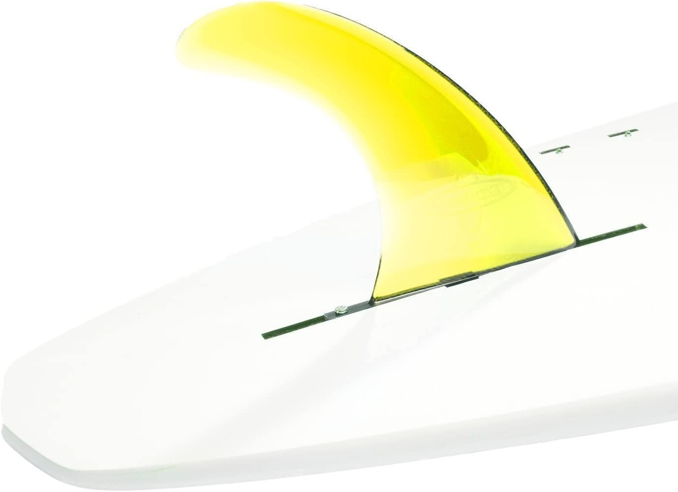 DORSAL Signature Surf Sup Aletas de Tabla de Surf para Longboard Color Amarillo