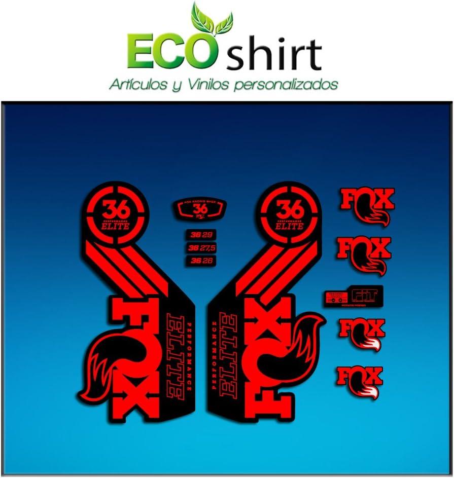 Red Ecoshirt ZB-0PVZ-8C8N Stickers Fork Fox 36 Performance Elite 2016 Am104 Aufkleber Decals Autocollants Adesivi Forcela Gabel Fourche