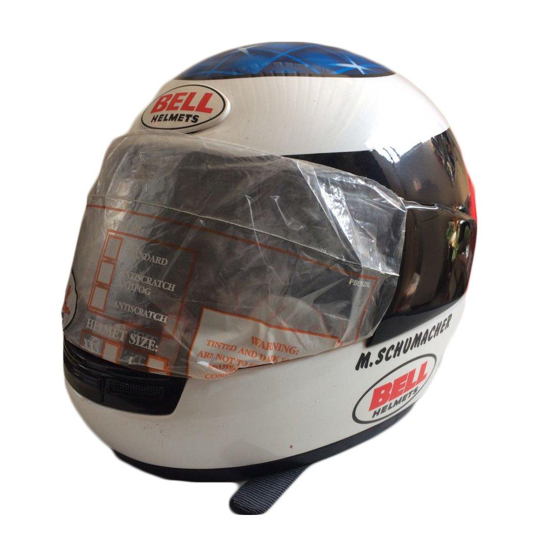 Amazon.es: Casco Michael Schumacher de colección, réplica del original Bell Dot, Formula 1, Talla L