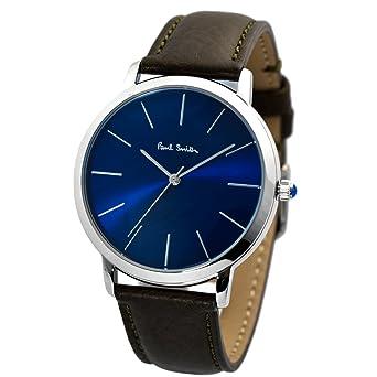 watch c5314 74cb7 PAUL SMITH ポールスミス MA エムエー レザーベルト 腕時計 ネイビー×シルバー/ブラウン P10091