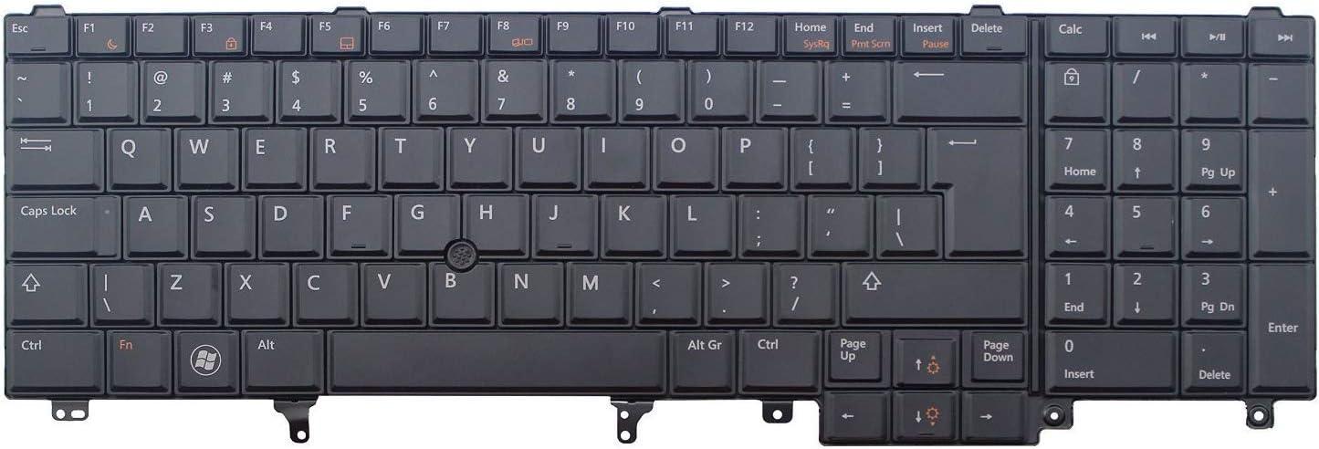 Laptop Keyboard for Dell Precision M2800 M4600 M4700 M4800 M6600 M6700 M6800 02FD2H 2FD2H PK130LH1E00 US Layout Black