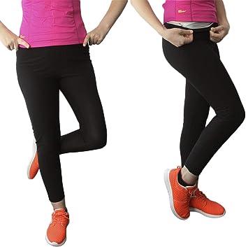Bonvie.shop Leggings sportivi con effetto termico, Nero
