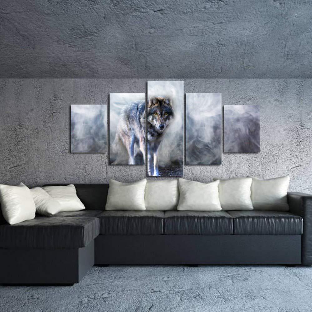 MITENG Tiergraue Wolfartillustration des Sofa-Wandhintergrundausgangswohnzimmer- Oder Schlafzimmerlandschaft des Hd-Kunstölgemälde-Plakats Hd-Kunstölgemälde-Plakats Hd-Kunstölgemälde-Plakats Modernes Ohne Rahmen B07QHH93QK   Qualitätsprodukte    Verschiedene Stile    Moderate Kosten  8679e8