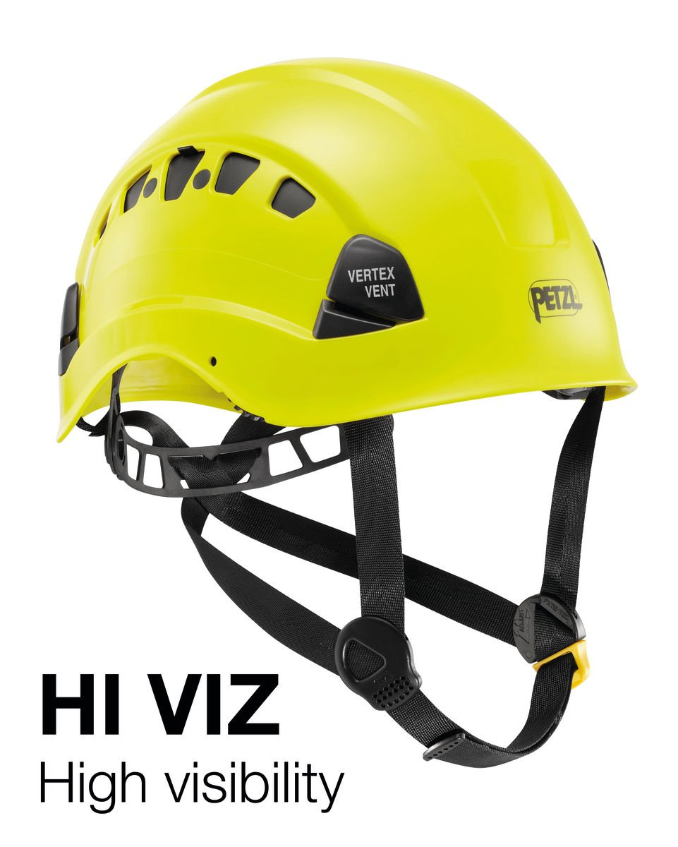 Petzl - Vertex Vent, Ventilated Helmet for Work at Height, High-Visibility Yellow