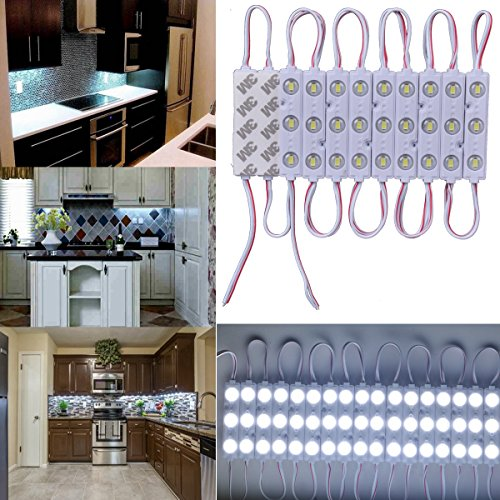 20pcs 5730 3Led Waterproof Module Light with Self- Adhesive Tape for kitchen, Stairs, Hallway Lighting