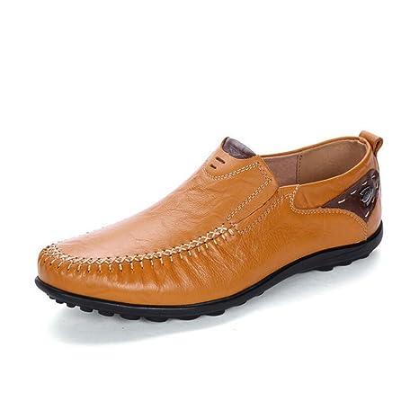 Zapatos de Cuero/Perezosos para Hombres Primavera/Verano/otoño Comfort Mocasines y Slip